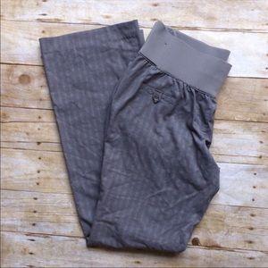 LIZ LANGE Maternity Striped Grey Trousers